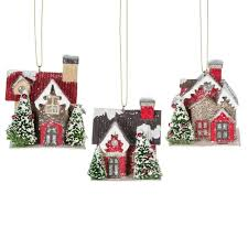 putz house ornaments with led lights theholidaybarn