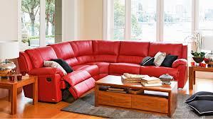 renmark 5 piece leather modular recliner lounge harvey norman