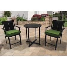 Outdoor Furniture Balcony by Better Homes And Gardens Sea Breeze 3 Piece Cushion Balcony Set