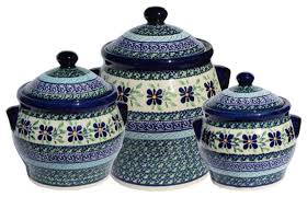 pottery kitchen canisters pottery canister set pattern number du121set farmhouse