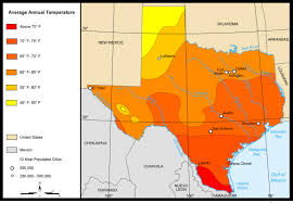 Picture Of Map Map Of Texas Map Average Temperatures Worldofmaps Net Online