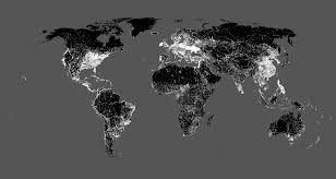World Map At Night by Sas Maps Online