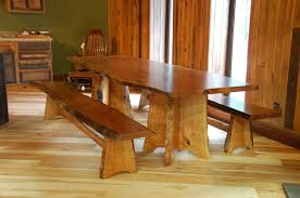 cherry dining room set handmade cherry dining table and benches with live edge by corey