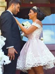 wedding dress with buy a line the shoulder pink satin wedding dress with