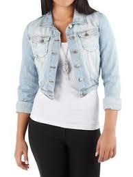 light blue cropped jean jacket totally adorable 3 4 length sleeve denim jacket tilly s