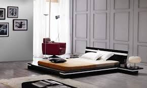 Modern Platform Perfectly Finished With Fine Polished Bed South - Contemporary platform bedroom sets