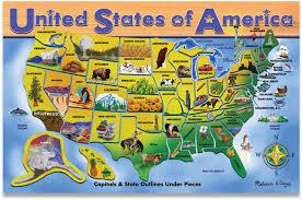 us map puzzle amazoncom doug usa map wooden puzzle 45 pcs usa