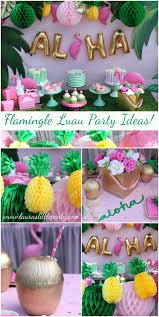 let u0027s flamingle luau summer party ideas laura u0027s little party