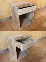 chambre palette chambre palette bois galerie et table de chevet en bois palettes et