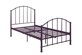 amazon com dhp brickmill ivy metal bed twin purple kitchen