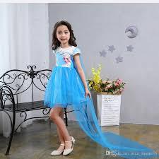 2017 2017 new girls dress short sleeve skirt princess new frozen