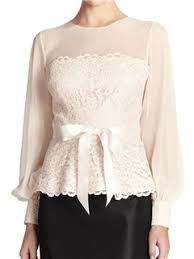 dressy white blouses ericdress slim patchwork lace blouse blusas