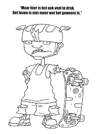 rocket power coloring pages coloringpages1001 inside rocket power