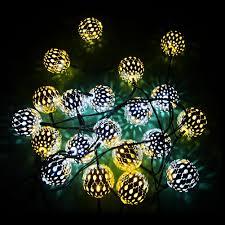 Outdoor Fairy Lights Solar by Gdealer Solar String Lights 20ft 30 Led Crystal Ball Waterproof