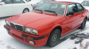 1985 maserati biturbo for sale maserati coupe biturbo twin turbo itialian coupe nr