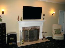 Mounting Tv Over Brick Fireplace by Install Tv Over Fireplace Hide Wires Ct Wall Wire Concealment