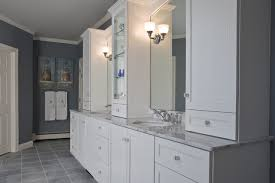 Gallant Bathroom Images For You Who Searching For Builtin - White cabinets dark floor bathroom