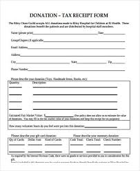 sample donation forms