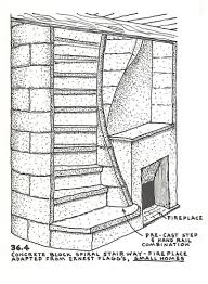 spiral staircase blueprints stone construction