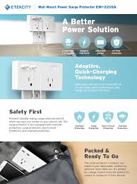 Home Designer Pro Electrical by Amazon Com Etekcity Surge Protector Wall Mount With 2 Outlets 2