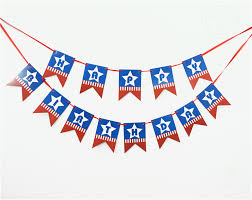 ypp craft blue happy birthday handmade paper flags bunting banner