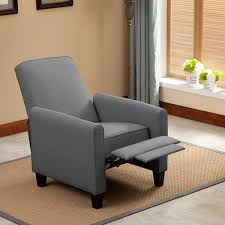 push back recliner chair with footrest grey u2013 langria