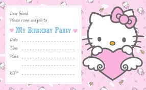 Hello Kitty Invitation Cards Free Hello Kitty Birthday Party Invitations Templates Image