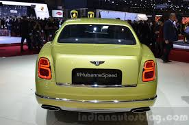 bentley rear 2016 bentley mulsanne speed facelift rear at the 2016 geneva