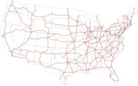 Map Of Usa With Highways by Interstate Highway System Wikipedia