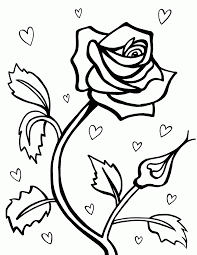 flower hearts coloring pages kids coloring