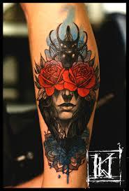 tattoo tatuaz warszawa warsaw rose roza watercolor akwarela
