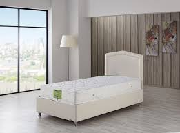 Twin Bed With Storage Modern Storage Twin Bed Casa Rest Cream Pu Leather By Casamode