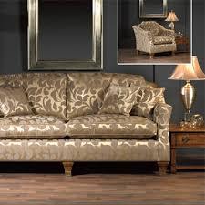 Gold Fabric Sofa Chatsworth Floral Striped Damask Upholstery Fabric Damask