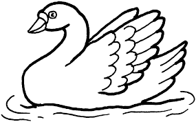 9 kids coloring pages swan print color craft