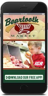mobile application for beartooth market iga available for apple