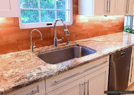 copper backsplash tiles for kitchen beige kitchen cabinets with typhoon bordeaux granite countertop