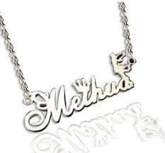 Silver Nameplate Necklace Sterling Silver Personalized Nameplate Necklace In Creative Design