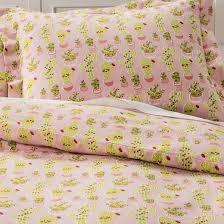 festive cactus flannel duvet set pillowfort target