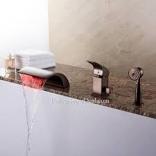 ceramic valve waterfall single handle brass oil rubbed bronze