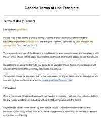 terms and condition template eliolera com