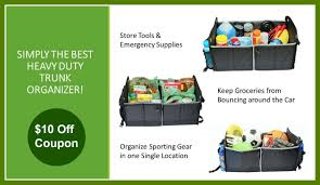 best organizer simply the best heavy duty trunk organizer 10 off coupon youtube