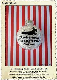 amazon com dachshund christmas ornament dasching through the