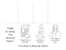 nursery manual page 19 i can pray to heavenly father