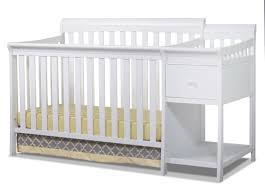 White Convertible Crib by Sorelle Florence 4 In 1 Convertible Crib And Changer White