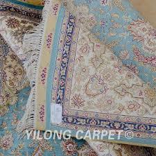 Aqua Silk Rugs Aliexpress Com Buy Yilong 5 5 U0027x8 U0027 Dubai Handmade Carpet
