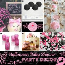 pink halloween baby shower ideas