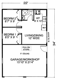 garage with workshop plans main floor tiny house plan now this is a great idea for maine we