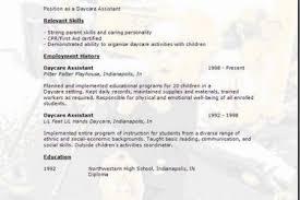 Child Development Resume Child Care Resume Samples Resume Samples And Resume Help