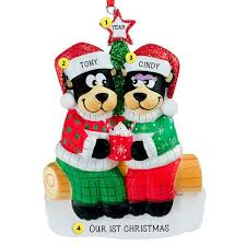 personalized couples ornaments callisters