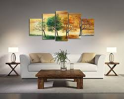 Home Decor Wall Paintings Amazon Com Ode Rin Art 100 Hand Painted Four Seasons Trees 5